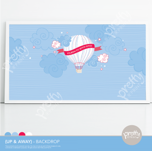 Hot Air Balloon Printable Backdrop