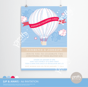 HOT AIR BALLOON A6 PRINTABLE INVITATION